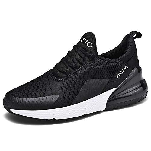 LIN&LE Herren Damen Sportschuhe Laufschuhe mit Luftpolster Turnschuhe Joggingschuhe Sneakers Leichte Lässige Schuhe