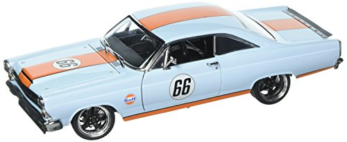 1966 Ford Fairlane Street Fighter Gulf Oil Light Blue with Orange Stripes Limited Edition 1/18 Diecast Model Car by GMP 18858
