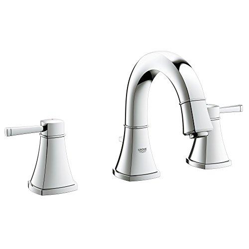 Grandera S-Size 2-Handle 3-Hole Low Spout Bathroom Faucet - 1.2 GPM