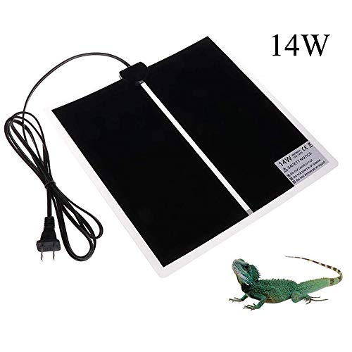 TESLUCK Reptile Heating Pad 14W 11x11inch Waterproof Reptile Heat Pad Under Tank Terrarium with Temperature Control Safety Adjustable Reptile Heat Mat for Turtle Tortoise Snakes Lizard Gecko