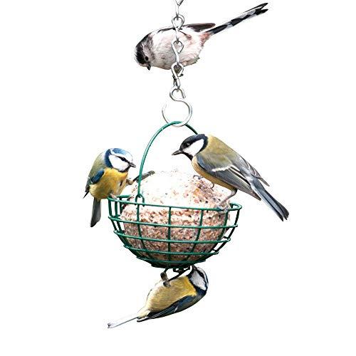 C J Wildbird Foods C J - Cestino da appendere per palle di grasso e semi (Taglia unica) (Verde)