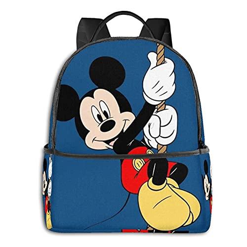 Mochila de dibujos animados Mickey Minnie Mouse azul mochila casual mochila escolar al aire libre ligera resistente a desgarros portátil mochilas niñas niños adultos mochila