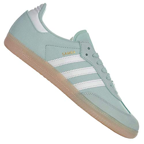 adidas Originals Women's Samba Trainers Ash Crystal Linen US5 Green