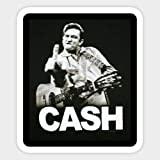 Cash Stickers (Any Size) Johnny Decal Vinyl car bamper, Truck, Laptop, tumblers Rock n Roll Gitar (9 inch)
