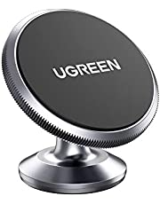 UGREEN Car Phone Holder Magnetic Dashboard Mobile Mount 2 Metal Plates Compatible with iPhone 12 mini/12/12 pro/12 pro max/11/XR/XS/X/8/7/6,Samsung S10/S9/S8/A70,Huawei P30/P20,Google Pixel 3a,OnePlus