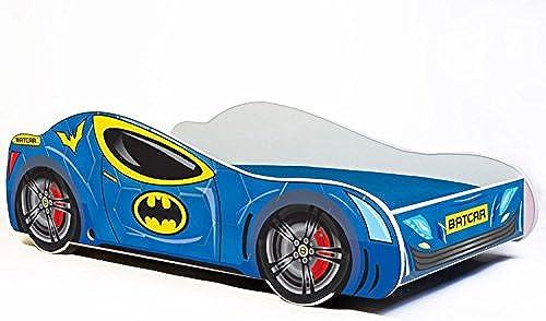 Kinderbett bett auto BATCAR Größe 160x80 cm mit einer Matratze