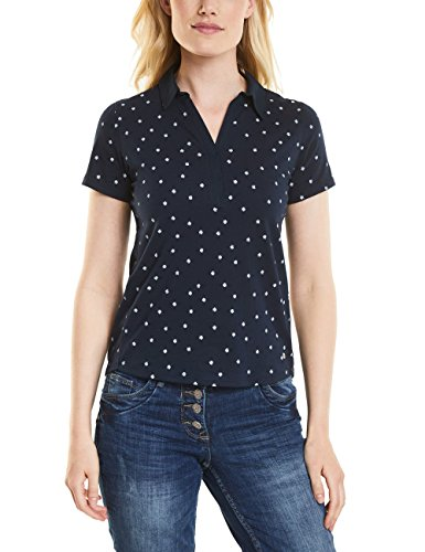 Cecil Damen 312102 T-Shirt, Blau (Deep Blue 20128), Medium