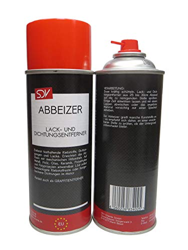 SDV Chemie Abbeizer Spray 1x 400ml Graffitientferner Lackentferner Dichtungsentferner zum Entfernen von Klebstoffresten