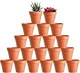 20 Pcs 3' Terracotta Clay Pots Pack of Small Craft Nursery Cactus Pot Water Permeable Succulent Plant Pottery Planter DIY Home Office Desktop Windowsill Ornament Decoration Wedding
