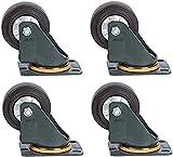 Rodízios, 4 peças Roda universal de elasticidade média alta, Rodízios da indústria de caminhões de mesa trole, Substituir acessórios Roda de freio Rodízios de móveis, Rodízio de suporte de p