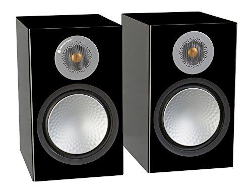 Monitor Audio Silver 100 Bookshelf Speakers - Gloss Black (Pair)