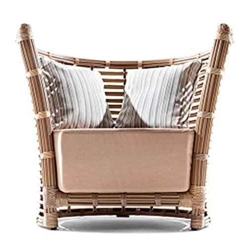 YTO Sofá al Aire Libre de la Silla de la Rota de la Rota, sofá Grueso del balcón del Patio de la Rota del Ocio