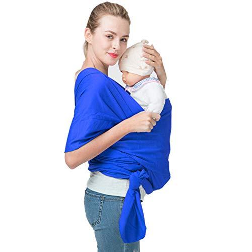Fular Portabebés, Portador De Bebé Elastico para Llevar Al Bebé Ajustable Baby Carrier para Padres,3-36 Meses,0-25KG