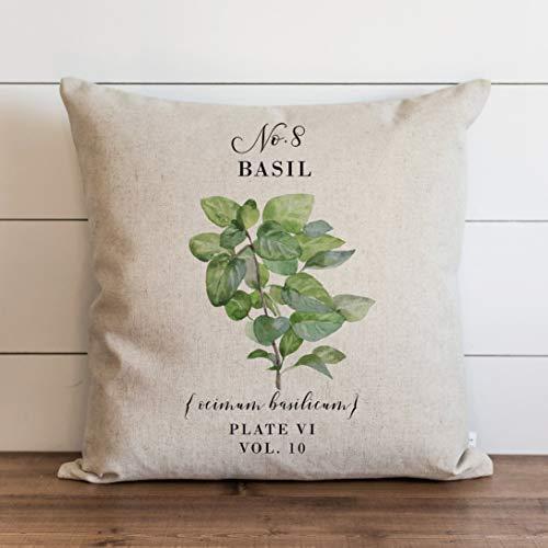 Ol322ay Basil kussensloop Botanische kussensloop Bloemen Kruiden Lente Thuis Decor Zomer Kussen Tuin