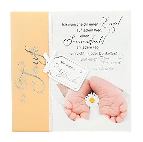 Depesche 4907.055 Glückwunschkarte Emotions in edlem Design, Taufe,