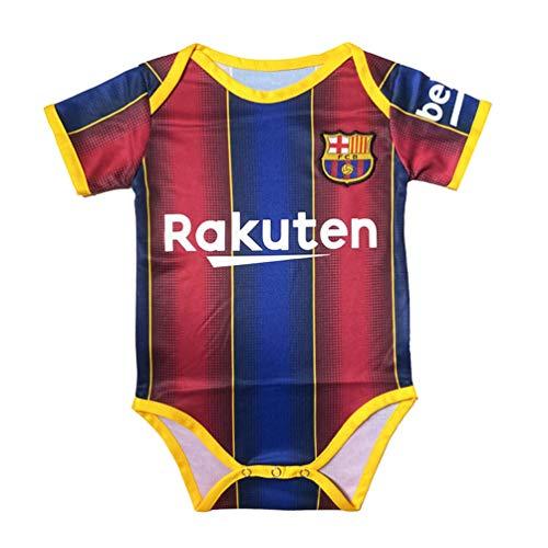 Football Club Home Soccer Baby Onesie BodySuit Unisex Multi-Team Optional (B,Ba-rcelona #10, 9-18 Monthes)