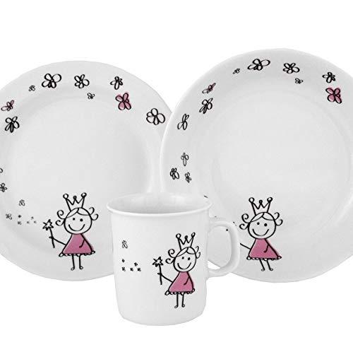 Set pour enfant : Assiette Plate, Assiette Creuse et Mug Molène