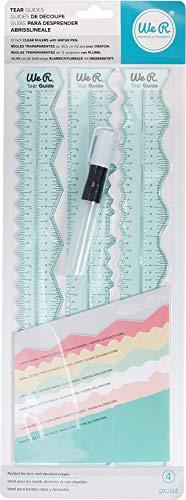 We R Memory Keepers We R Reißfestigkeit Guide Werkzeug (4 Stück), Synthetisches Material, Grün, 43.3 x 16 x 2 cm