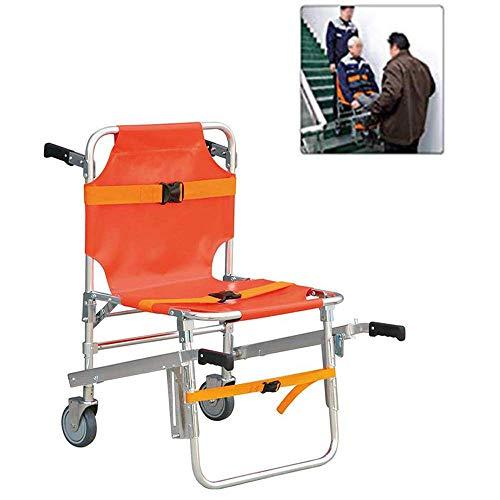 AA-SS Silla de Escalera - JXSD Aluminio Peso Ligero Ambulancia Medical Lift - Evacuación Sillas de Ruedas Ascensor de Emergencia Equipo Nuevo con Hebillas de liberación rápida