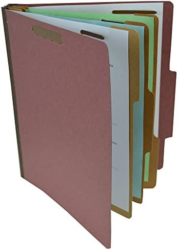 SJ Paper Recycled 2-Divider Classification Folders SJPS61901