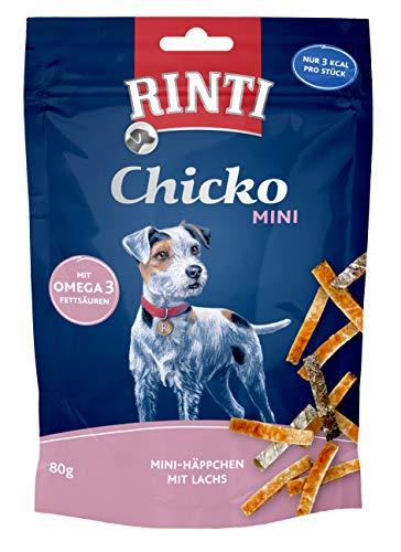 Rinti Chicko Mini Häppchen mit Lachs, 2er Pack (2 x 80 g)