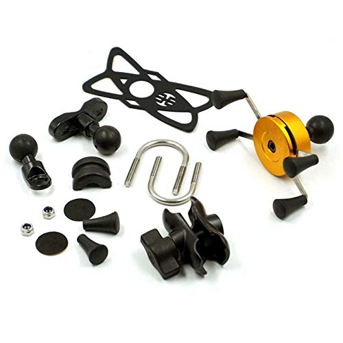 Fransande - Soporte de soporte para manillar de moto, soporte de manillar de moto, soporte de telePhone de manillar ajustable a 360 °