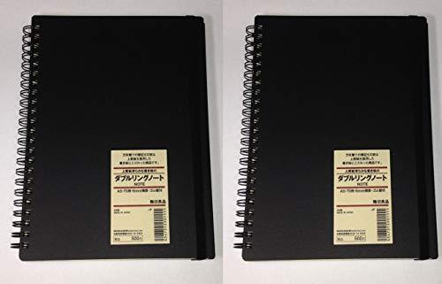 2 Stks Set MUJI Hoge Kwaliteit Papier Klassieke Hard Cover Notebook A5 6 mm Regel 70 vellen door Muji