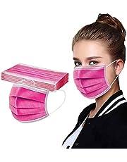 Lfore 50Piezas Adulto Protección 3 Capas Transpirables con Elástico para Los Oídos -Lfore825