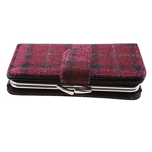 Glen Appin Damen Geldbörse Harris Tweed Iona LB2001 Pink Colour 90 Pink Check Large