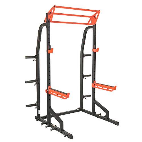 Sunny Health & Fitness Power Zone Half Rack Heavy Duty