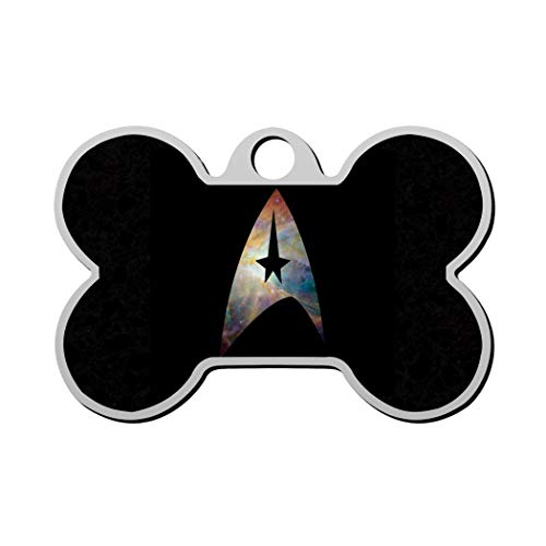 Wendy Star-Trek Pet Custom ID tag Dog Tags & Cat Tags, Animal Pet ID Tag with Contact Information Personalized Print Front and Back Bone Shape