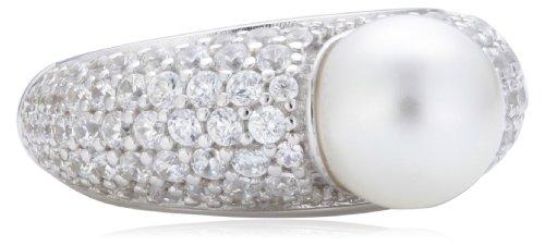 Joop Damen-Ring 925 Sterling Silber Michelle synth. Perle weiß Zirkonia-Pavée Gr. 55 (17.5) JPRG90645A550
