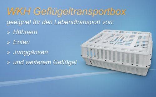 WKH GmbH Transportbox für Geflügel - Geflügeltransportkiste - Hähnchenkiste