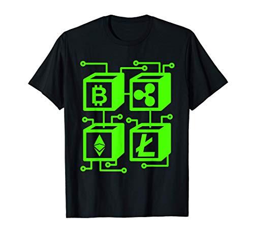 Blockchain Comercio Crypto Criptocurrencia Dinero Regalo Camiseta