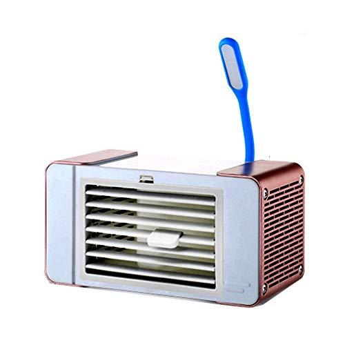 Mini Climatiseur, Ordinateur de bureau petit ventilateur, Noiseless par évaporation Cooler Climatiseur mobile, réglable à 3 vitesses, avec LED lumière de nuit, for Home Office Pour l'été