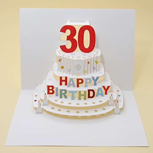 Forever Handmade Cards-Pop-Up Per Compleanno Pop 45-30Th-Laser Cut-Biglietto Di Auguri Pop-Up