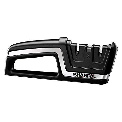 SHARPAL 190N 3-in-1 Professionelle Küche Gezackte Messer und Scheren mit gerader Klinge Schärfer-Classic-Version