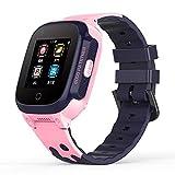 Orologio Impermeabile Smart Watches Smartwatch per Uomo Watch GPS Posizionamento GPS Chiamata Impermeabile Orologio Multifunzionale con videochiamata, Un Must-Have per i Regali delle Vacanze,Rosa