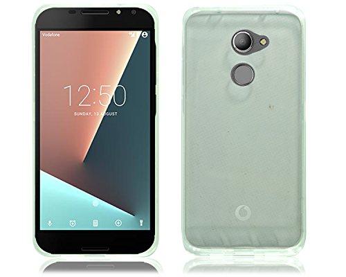 PIXFAB Vodafone Smart N8VFD 610Neu mit schwarz-weiß-Gel-Silikon-Gummi-Hülle + Bildschirmschutzfolie für Vodafone Smart N8VFD 610, Gel, All Clear Gel, Vodafone Smart N8 VFD 610