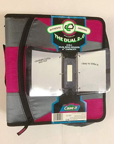 Case-it The Dual 2.0 Zipper Binder with 2 Sets of D-Rings, 2