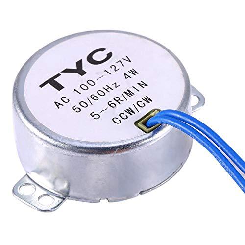 AC 100〜127V 同期モーター ギヤードモーター 50 / 60Hz周波数 CW/CCW 4W 5-6RPM / MIN 50TYC 汎用モーター