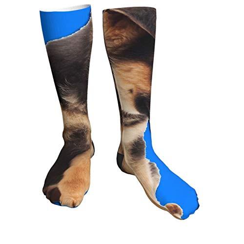 Compression Socks Women & Men Dog and Microscope Heel Thick Socks - Best for Running,Athletic Sports,Flight Travel, Pregnancy, Soccer