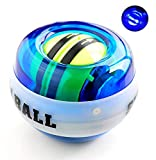Auto-Start Wrist Ball Wrist Trainer Ball Forearm Exerciser Wrist Strengthener Workout Toy Spinner Gyro Ball with LED Lights - Arm Strengthener for Stronger Muscle and Bones