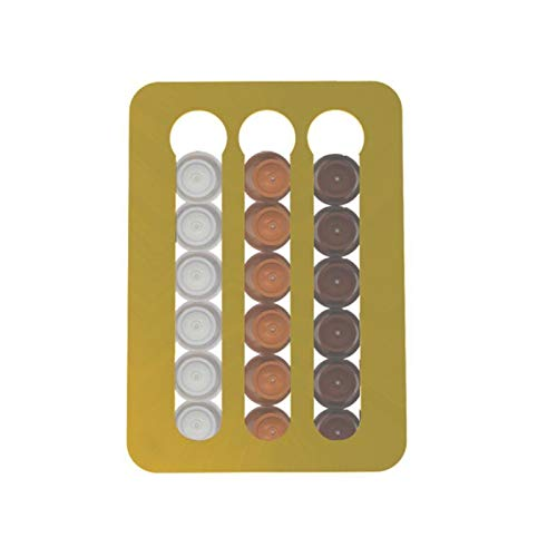 Soporte para cápsulas de café CAPSULA DEL CAPA DE CAPA DE CAPA DE ALMACENAMIENTO DE ALMACENAMIENTO DE ALMACENAMIENTO DE ALMACENAMIENTO DE ALMACENAMIENTO PUEDE APOYAR 18 Almacenamiento de limpieza