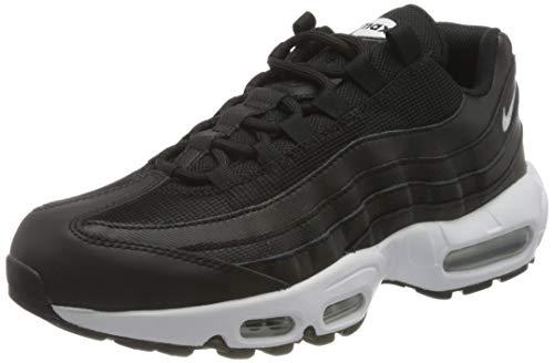 Nike W Air MAX 95, Zapatillas para Correr Mujer, Black White Black, 38.5 EU