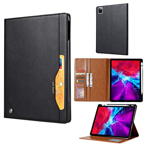 SHUFEIVICC For iPad Air (2020) 10.9 Knead Skin Texture Horizontal Flip Leather Case with Photo Frame & Holder & Card Slots & Wallet (Color : Black)