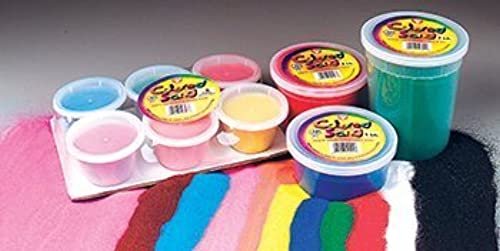 Bucket O Sand 12 Assorted Farbes 1 lb by Hygloss Products Inc