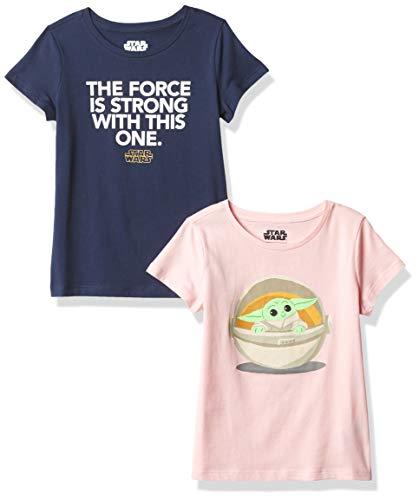 Amazon Essentials Disney Marvel Princess Short-Sleeve T-Shirts Camiseta, 2-Pack Star Wars Child, 2 años
