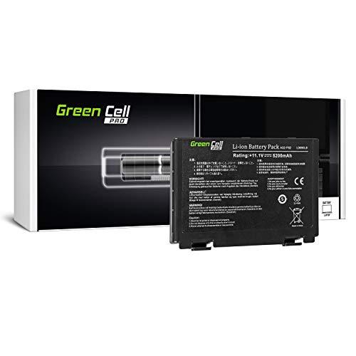Green Cell PRO Serie A32-F82 A32-F52 Laptop Akku für ASUS K50 K50AB K50C K50i K50IJ K50iN K51 K51AC K70 K70IJ K70IO (Original Samsung SDI Zellen, 6 Zellen, 5200mAh, Schwarz)