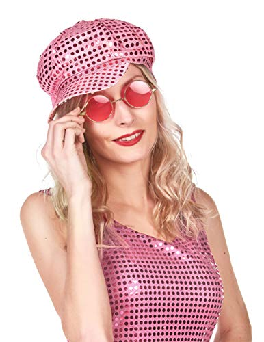 Casquette disco rose - Taille Unique
